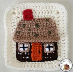 Mountain Cabin Applique - free crochet pattern by The Rusted Pansy. Woodland themed afghan.