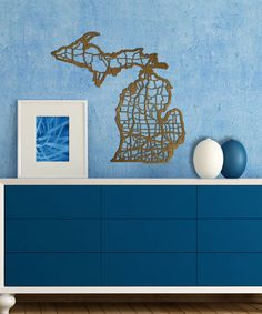 Loving this Wood Michigan Map Wall Art on #zulily! #zulilyfinds