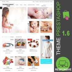 Thème PrestaShop 1.6 responsive Bootstrap pour boutique ecommerce destiné à la vente de bijoux enfants : boucles d'oreilles, bagues, chaines, gourmettes…