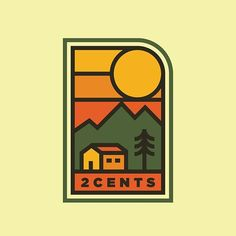 A little badge design fun for the 2 Cents crew. ... #design #twocents #2cents #badge #patch #cabin #kentucky #sunset #illustration #vector #thedesigntip #graphicdesigncentral #designarf #supplyanddesign #designspiration #dribbblers #simplycooldesign #graphicdesign #graphidesigns #artwork #instaartist #instaart