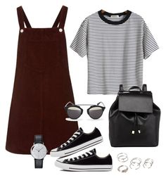 """Untitled #174"" by jessicapockrus ❤ liked on Polyvore featuring Topshop, Converse, D-ID, Barneys New York, Klein & more and Forever 21"