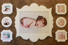 collage for chloes room! SO CUTE!!!  Love these frames!