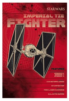Star Wars Space Ships - Imperial TIE Fighter by 2 Toast Design