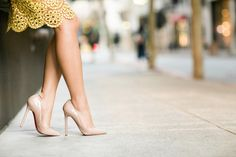 Wendy's Lookbook in nude patent Pigalle 120s