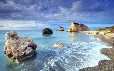 Sunny Shores Cyprus Wide Desktop Background HD wallpapers