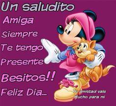 Buenos Días imagen con Minnie Mouse