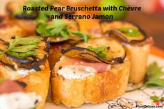 Roasted Pear Bruschetta with Chèvre and Serrano Jamon << Christine's creations are so awesome!