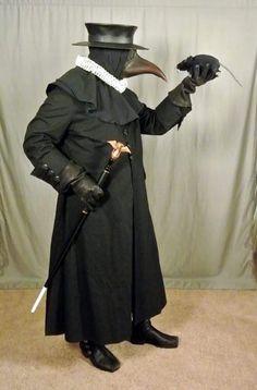 Seamus' plague doctor garb, 10/2017