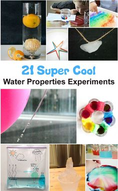 These are amazingly fun water properties science experiments. perfect for the summer! Stem Science, Preschool Science, Elementary Science, Science Education, Science Classroom, Science Chemistry, Physical Science, Earth Science, Science Experiments Kids