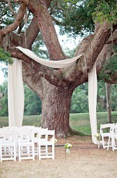 Outdoor wedding drapery