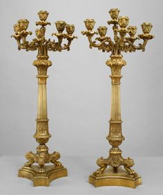 French Louis XVI accessories candelabra bronze
