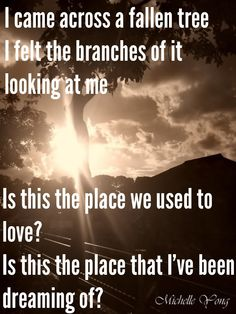 Keane/ somewhere only we know/ lyrics. Love this song. It reminds me of The Opportunist by Tarryn Fisher
