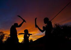 Mucubal at sunset - Angola | by Eric Lafforgue