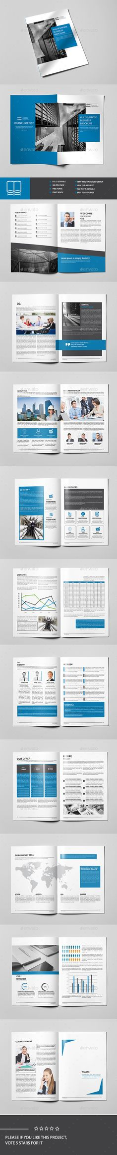Buy Corporate Brochure Template by Point-Dng on GraphicRiver. Corporate Business Brochure Professional, clean and modern 22 page corporate business brochure. Corporate Brochure Design, Brochure Layout, Graphisches Design, Layout Design, Magazine Examples, Company Profile Design, Indesign Brochure Templates, Booklet Design, Picture Albums
