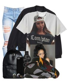 """BLACK OUT- - -"" by china-dolly on Polyvore featuring Monki, Eastpak, Maison Takuya, Michael Kors, Majorica and Retrò"