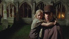 Young Cosette (Isabelle Allen) holds on tight to Jean Valjean (@RealHughJackman) in #LesMis