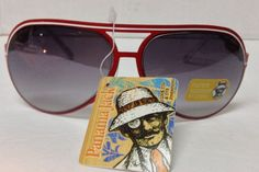 9b8ca40acb Panama Jack Red White Sunglasses NWT Shatter Resistant PC Lens  PanamaJack   Oval