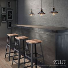 Resultado de imagen para bancos para barra madera + design