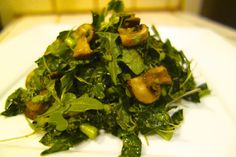 Kimberly Snyder - Warm Kale and Mushroom Salad
