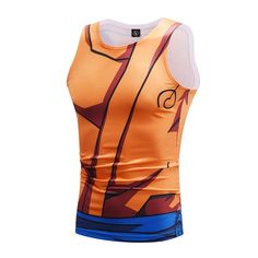 e3f6e5d8 Dragon Ball Z Mighty Son Goku Whis Training Outfit Compression Tank Top