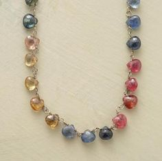 sapphire spectrum necklace - if I had a spare $3030 lying around!