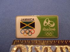 2016 Rio Olympic NOC Pin Jamaica Dated