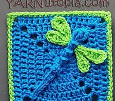 Dazzling Dragonfly Granny Square