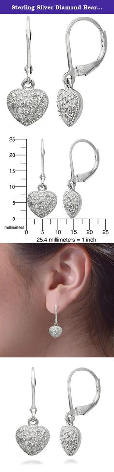 Sterling Silver Diamond Heart Earrings (1/3 CT). Sterling Silver Diamond Heart Earrings (1/3 CT). The Diamonds are Natural (No Color or Clarity Enhancement). The minimum total diamond carat weight is 0.29 CT. This product comes with a 90 day seller warranty.