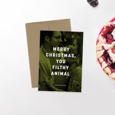 Modern Holiday Photo Card   Minimalist Holiday   Hipster Christmas   Newlywed Christmas   Christmas Card   Custom Card   Home Alone