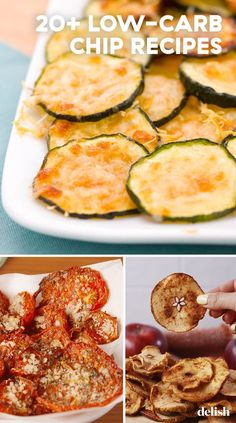 Snacking has never been so easy. These 20 low-carb chip recipes are perfect for the Keto diet, the Paleo diet, or just transforming your favorite vegetables into a healthy snack. Ketogenic Recipes, Low Carb Recipes, Healthy Recipes, Ketogenic Diet, Healthy Chips, Healthy Snacks, Keto Snacks, Veggie Recipes, Appetizer Recipes