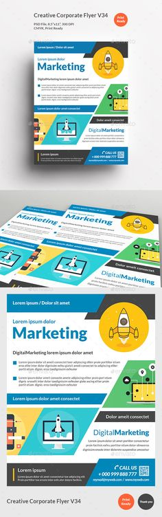 Creative Marketing Flyer V14 Marketing flyers, Flyer template - promotional flyer template