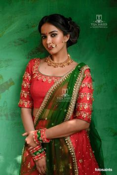 Sampradaya - 012Bold and beautiful ..Kaasu work Half-saree and blouse For orders/queries Call/ whats app on8341382382 orMail tejasarees@yahoo.com.  Team who worked Model/Actress - Pujita Ponnada.  Images- Fotosaints  JC: M Bajranglal Jewellers  contact for jewellery 9908390000. 19 January 2018