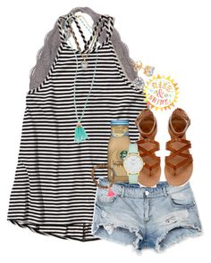 """""""to lighten the mood bc it's snowing"""" by thefashionbyem ❤ liked on Polyvore featuring Hollister Co., Spring Street, Bershka, Kate Spade and Kendra Scott"""