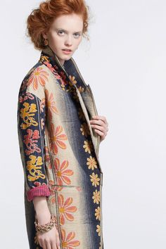 Anthropologie Orissa Vintage Kantha Coat