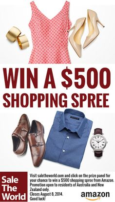 Win a $500 shopping spree from amazon http://saletheworld.com/win-500-shopping-spree/