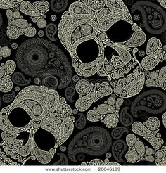 One of my favorite colors (Paisley) with one of my least favorite patterns (skull an crossbones)... It's definitely interesting.
