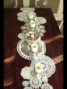 Decorating with doilies - I have plenty of these!