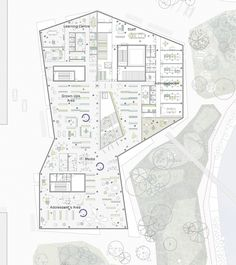 architecture floor plan _ New Culture Centre and Library Winning Proposal / schmidt hammer lassen architects