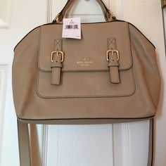 NWT Kate spade Raquelle hand bag Camel colored beautiful NWT satchel. Has cross body or handles. Includes dust bag kate spade Bags Satchels