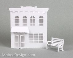 Ashbee Design Silhouette Projects: Ledge Village Store 2 and Park Bench Tutorial