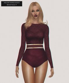 Alaina Vesna: Heartbreaker Bodysuit • Sims 4 Downloads