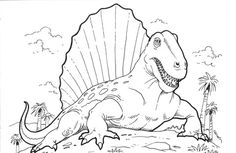 Saurolophus dinosaur coloring pages for kids, printable