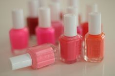 Nothing says spring like this collection of Essie pinks!