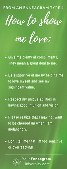 Ever wondered how to love a Type 4 in a way that resonates with them? Here are some helpful ideas. Beth McCord, Your Enneagram Coach YourEnneagramUniversity.com