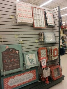 Mint green and coral nursery Decor from Hobby Lobby