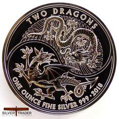 Box /& COA 2018 Australian DRAGON /& TIGER Colorized 1oz .999 Silver Coin