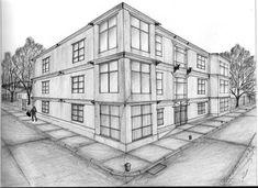 Perspectiva dos puntos de edificio monocromática
