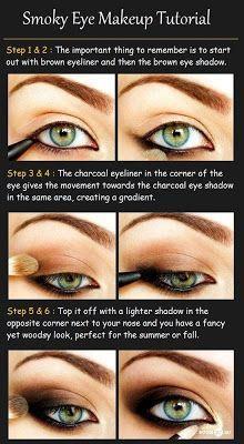 Zoom DIY: 3 Simple DIY Smoky Eyes Makeup Tutorial #makeup