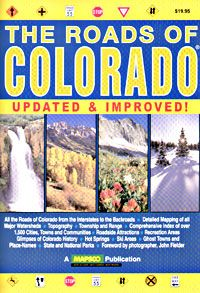 Compass: Mapsco - The Roads of Colorado Colorado Road Atlas, 2007   This 16in x 11in, 176 page Road Atlas of Colorado is loaded with detailed maps at a scale of 158K. It includes all the roads of Colorado from the interstates to the backroads. The maps are based on county maps from the Colorado state municipal and transportation department.This atlas also contains info on state and national parks and reacreation areas, roadside attractions, weather and road facts, annual events and more.