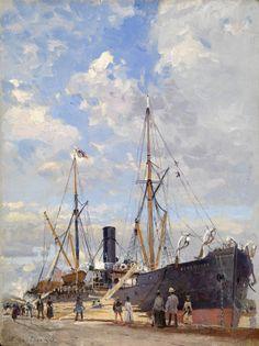 GRITSENKO, NIKOLAI (1856-1900) Port Le Havre , signed.